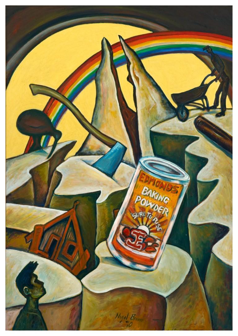 Nigel Brown, Damaged Landscape 1990