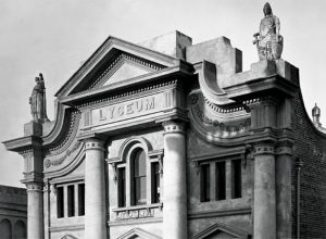 The Lyceum public hall in Dunedin (Te Papa, C.012080)