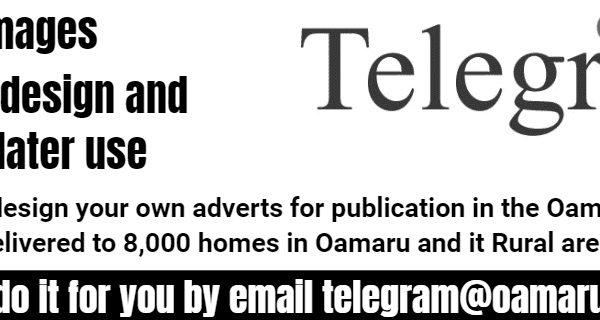32mm Oamaru Telegram Advert